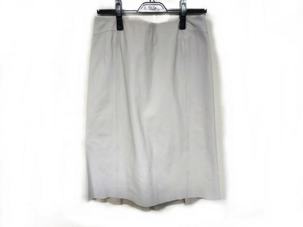 DAMAcollection(ダーマコレクション) スカート レディース美品  白 レザー
