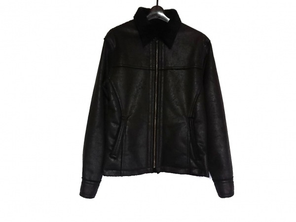 TETE HOMME(テットオム) ブルゾン サイズL メンズ美品  黒 冬物/ムートン