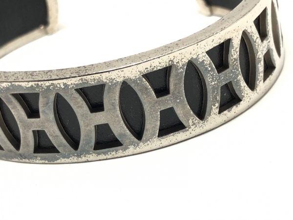 HERMES(エルメス) バングル - 金属素材 シルバー×黒 4