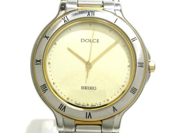 SEIKO(セイコー) 腕時計美品  DOLCE 5E31-6B8A ボーイズ ゴールド
