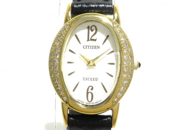 シチズン 腕時計美品  EXCEED 5422-T006574 レディース メレダイヤモンド シルバー