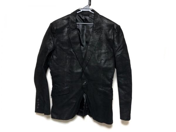 メンズティノラス ジャケット サイズL メンズ美品  黒 レザー/型押し加工/春・秋物