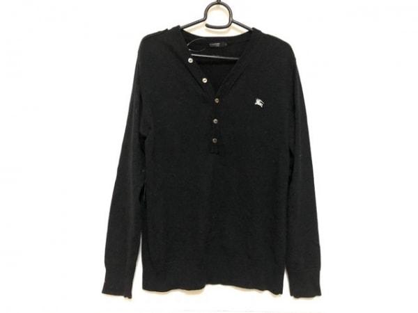 バーバリーブラックレーベル 長袖セーター サイズ2 M メンズ 黒