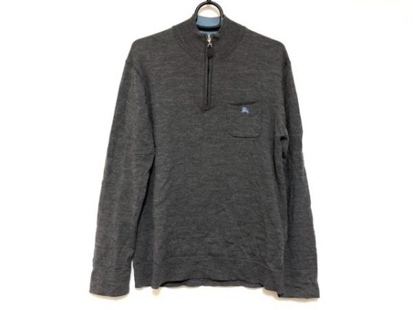 バーバリーブラックレーベル 長袖セーター サイズ2 M メンズ ダークグレー