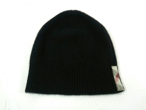 Burberry(バーバリー) ニット帽 黒 カシミヤ 1