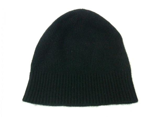 Burberry(バーバリー) ニット帽 黒 カシミヤ 2