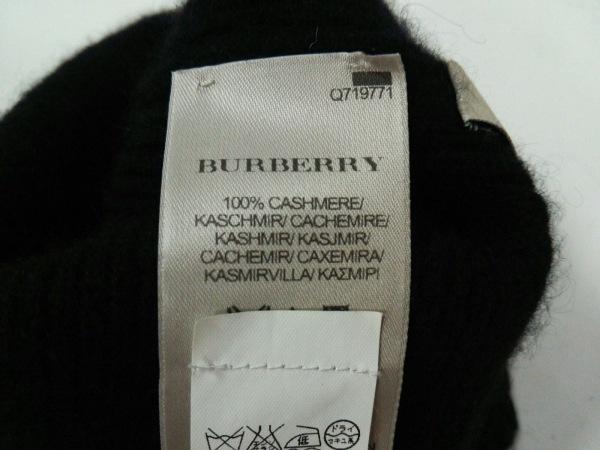 Burberry(バーバリー) ニット帽 黒 カシミヤ 5
