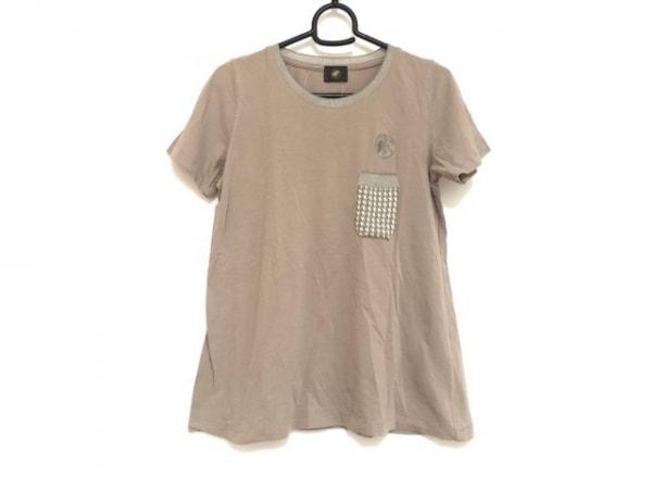 ハンティングワールド 半袖Tシャツ サイズ40 M レディース グレーベージュ