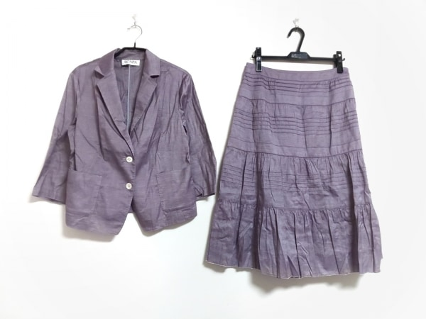 Scapa(スキャパ) スカートスーツ レディース パープル
