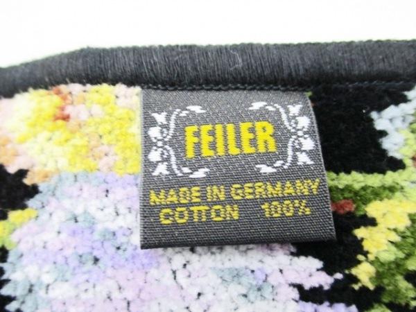 FEILER(フェイラー) ハンカチ新品同様  黒×マルチ 花柄 3