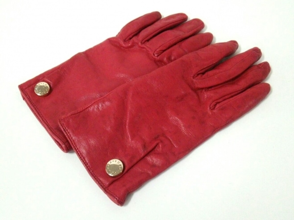 FURLA(フルラ) 手袋 7 レディース美品  レッド レザー