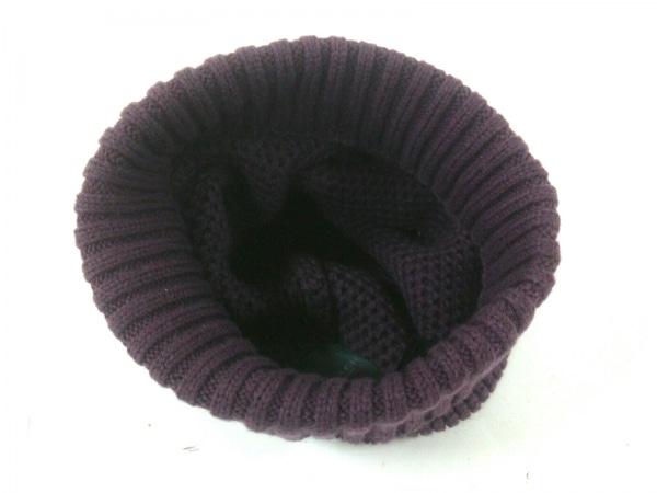 COACH(コーチ) ニット帽 O/S パープル ウール×コットン 3