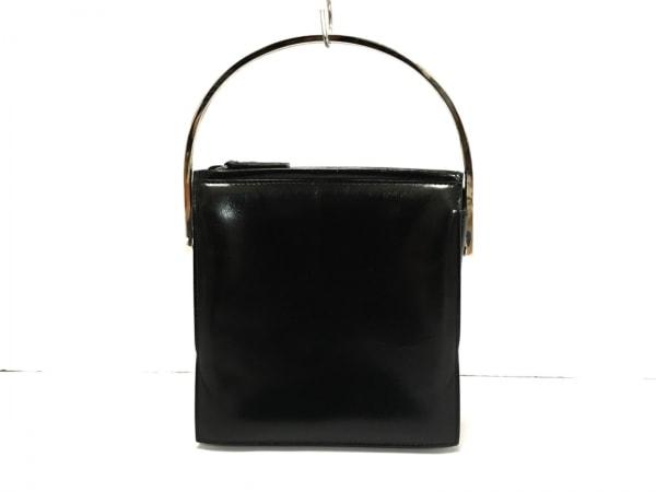 GUCCI(グッチ) ハンドバッグ - 黒×シルバー ミニサイズ レザー×金属素材