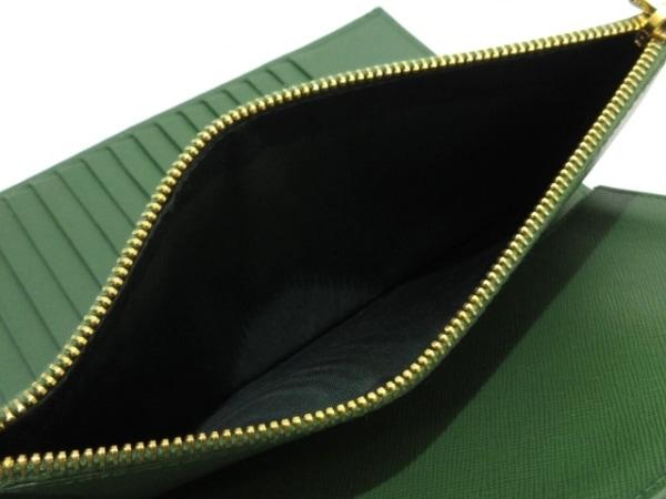 PRADA(プラダ) 長財布 - 1M1302 グリーン レザー 5