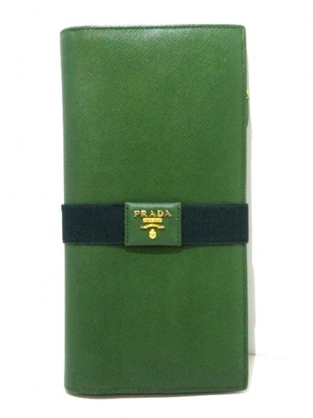 PRADA(プラダ) 長財布 - 1M1302 グリーン レザー 9
