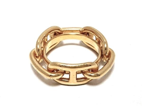 エルメス スカーフリング シェーヌダンクル 金属素材 ゴールド 1