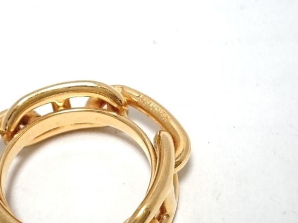 エルメス スカーフリング シェーヌダンクル 金属素材 ゴールド 3