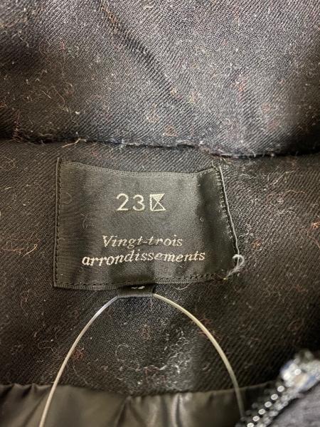 23区(ニジュウサンク) ダウンコート サイズ46 XL レディース 黒 3