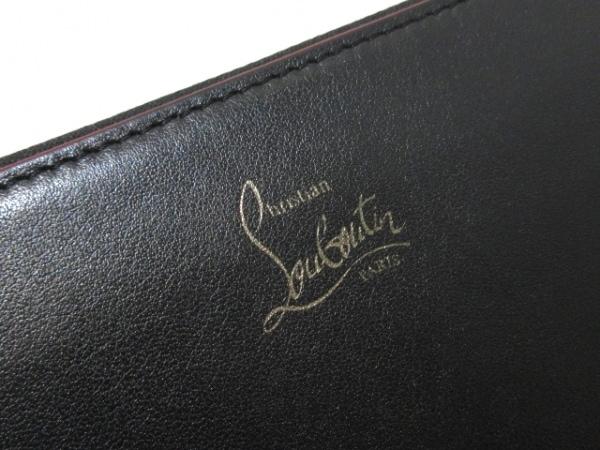 クリスチャンルブタン 長財布 ダブルパネトーネ 黒×レッド ラウンドファスナー