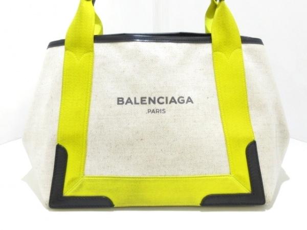 バレンシアガ トートバッグ ネイビーカバS 339933 アイボリー×イエロー×黒