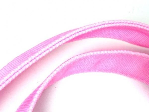 レディ トートバッグ美品  ピンク×ライトグリーン×マルチ ラメ 6