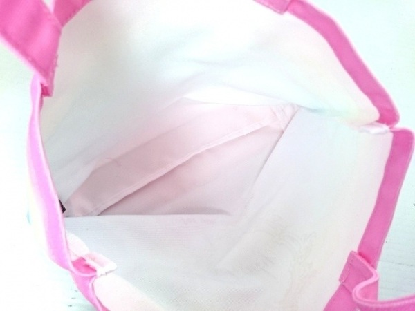 レディ トートバッグ美品  ピンク×ライトグリーン×マルチ ラメ 7
