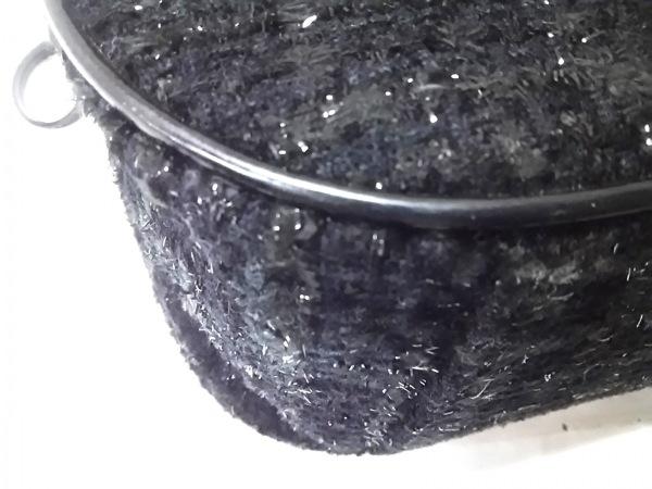 サマンサベガ ハンドバッグ美品  黒 ツイード/リボン/ラメ 7