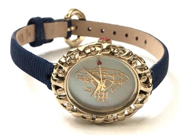 ヴィヴィアン 腕時計美品  レディース アイボリー×ゴールド 2