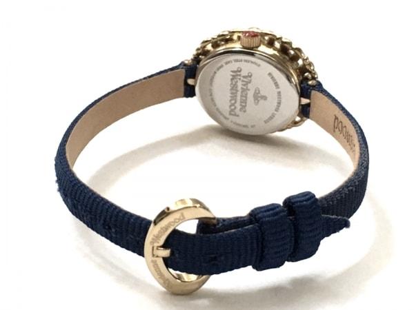 ヴィヴィアン 腕時計美品  レディース アイボリー×ゴールド 3