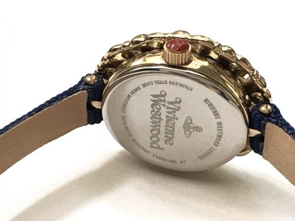 ヴィヴィアン 腕時計美品  レディース アイボリー×ゴールド 4