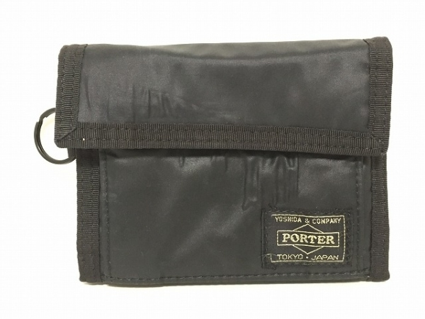 PORTER/吉田(ポーター) 3つ折り財布 - 黒 ナイロン 1