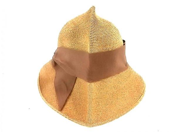 アシーナ 帽子美品  ベージュ×ライトブラウン ペーパー×コットン 3
