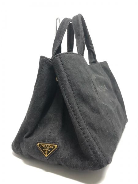 PRADA(プラダ) トートバッグ美品  CANAPA B2642B 黒 デニム 2