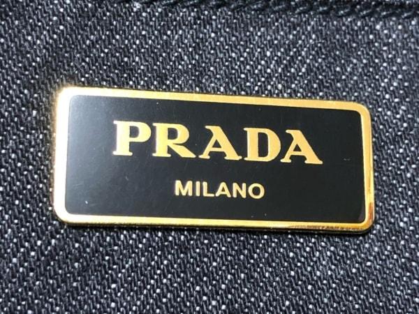 PRADA(プラダ) トートバッグ美品  CANAPA B2642B 黒 デニム 8