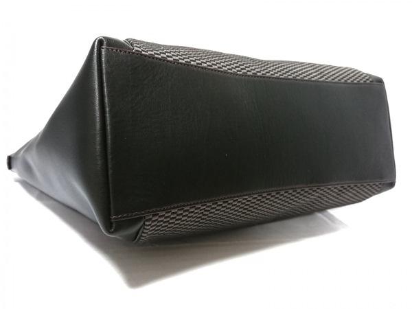 COACH(コーチ) トートバッグ F57246 黒×グレー ジャガード×レザー 4