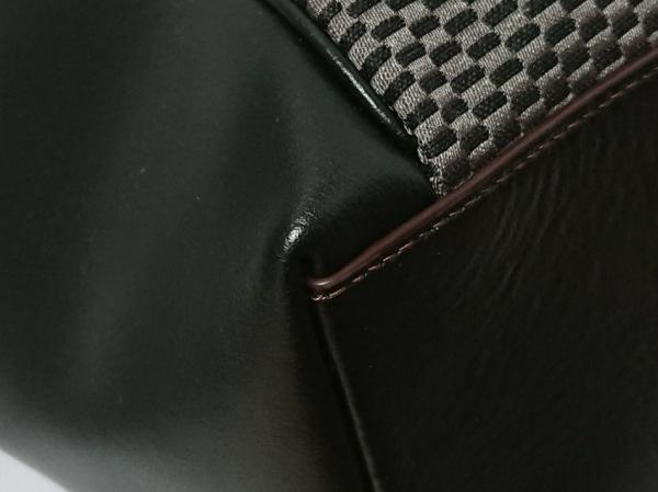 COACH(コーチ) トートバッグ F57246 黒×グレー ジャガード×レザー 5