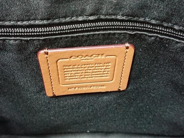 COACH(コーチ) トートバッグ F57246 黒×グレー ジャガード×レザー 8