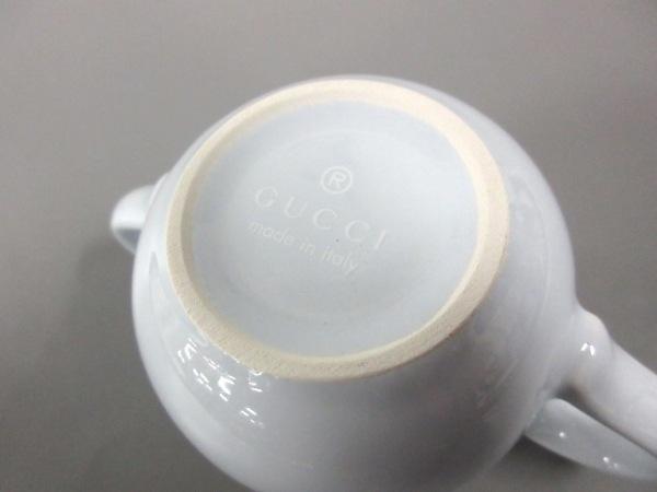 GUCCI(グッチ) マグカップ新品同様  ライトブルー×白 baby 陶器 3