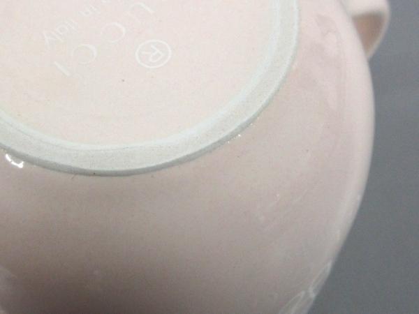 GUCCI(グッチ) マグカップ新品同様  ピンク×白 baby 陶器 4
