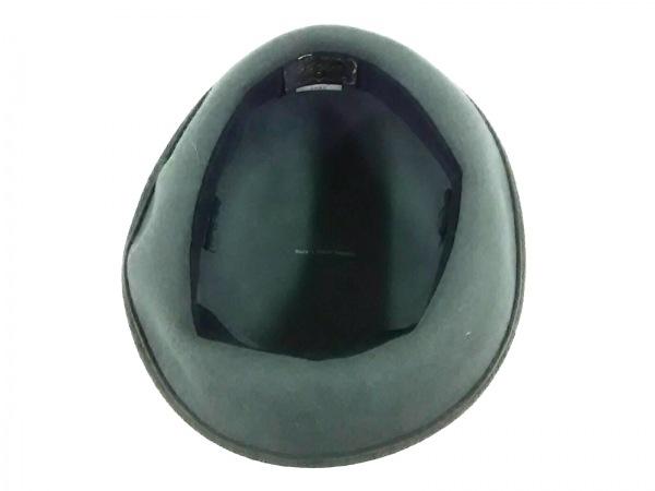 VOGUE(ヴォーグ) ハット美品  ダークグレー リボン ウール 4