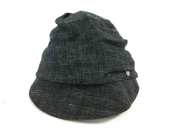 CA4LA(カシラ) 帽子美品  黒×ライトグレー 麻×ナイロン 1
