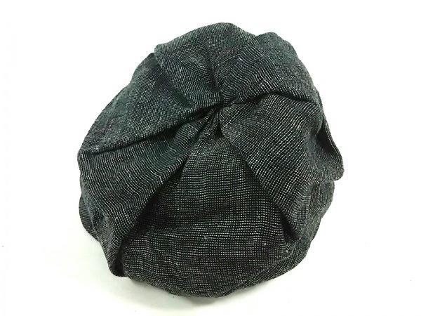 CA4LA(カシラ) 帽子美品  黒×ライトグレー 麻×ナイロン 3