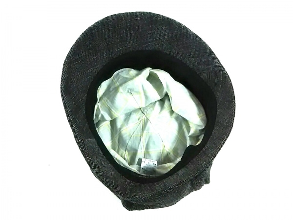 CA4LA(カシラ) 帽子美品  黒×ライトグレー 麻×ナイロン 4