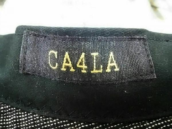 CA4LA(カシラ) 帽子美品  黒×ライトグレー 麻×ナイロン 5