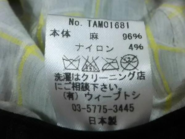 CA4LA(カシラ) 帽子美品  黒×ライトグレー 麻×ナイロン 6