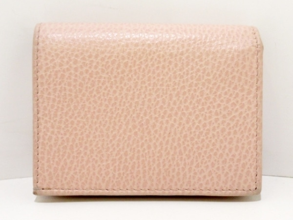 グッチ 2つ折り財布 - 499361 ピンク×ゴールド×クリア バタフライ/ラインストーン