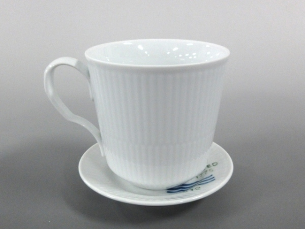 ロイヤルコペンハーゲン カップ&ソーサー新品同様  白×ブルー 陶器 1