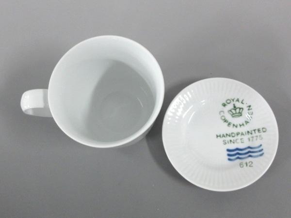 ロイヤルコペンハーゲン カップ&ソーサー新品同様  白×ブルー 陶器 2
