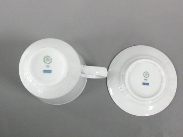 ロイヤルコペンハーゲン カップ&ソーサー新品同様  白×ブルー 陶器 3