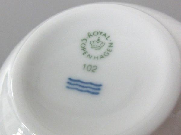 ロイヤルコペンハーゲン カップ&ソーサー新品同様  白×ブルー 陶器 4